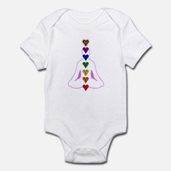 Chakras - Hearts Infant Bodysuit