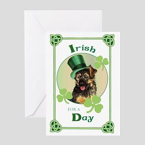 St. Patrick GSD Greeting Card