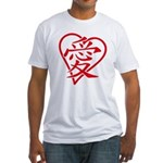 China red heart Fitted T-Shirt