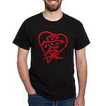China red heart Dark T-Shirt