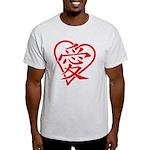 China red heart Light T-Shirt