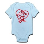 China red heart Infant Bodysuit