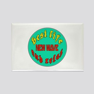 Best life New Wave and relax Rectangle Magnet