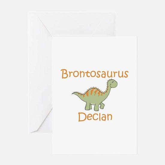 Brontosaurus Declan Greeting Card