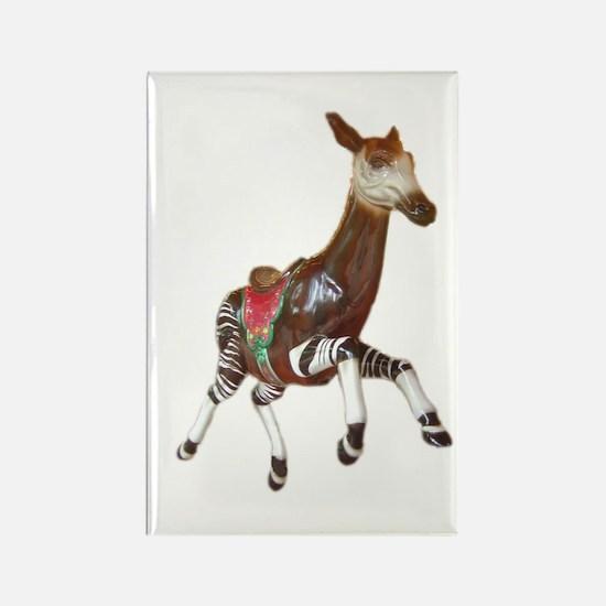 okapi carousel animal Rectangle Magnet