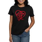 Love China red heart Women's Dark T-Shirt