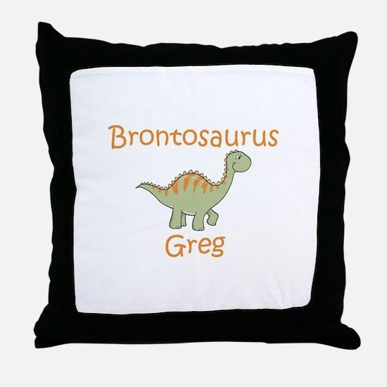 Brontosaurus Greg Throw Pillow