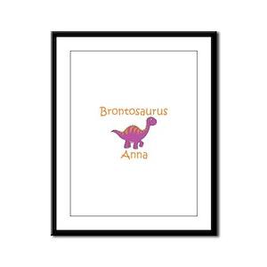 Brontosaurus Anna Framed Panel Print