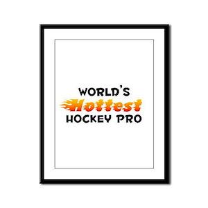 World's Hottest Hocke.. (B) Framed Panel Print