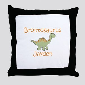 Brontosaurus Jayden Throw Pillow