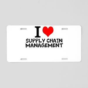 I Love Supply Chain Management Aluminum License Pl