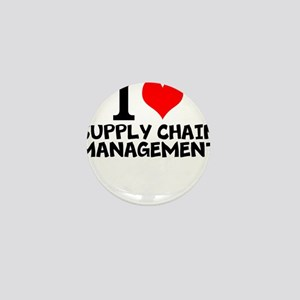 I Love Supply Chain Management Mini Button
