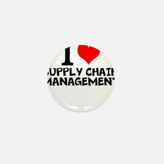 I Love Supply Chain Management Mini Button