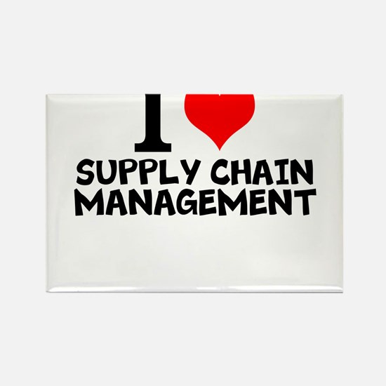 I Love Supply Chain Management Magnets
