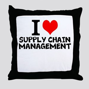 I Love Supply Chain Management Throw Pillow