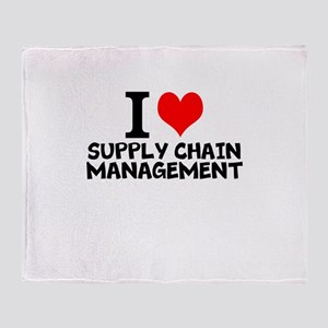 I Love Supply Chain Management Throw Blanket