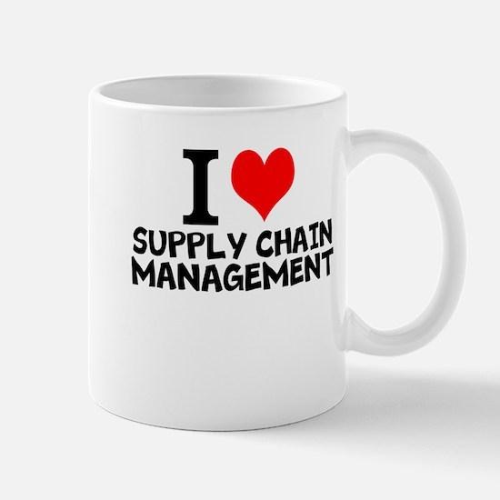 I Love Supply Chain Management Mugs