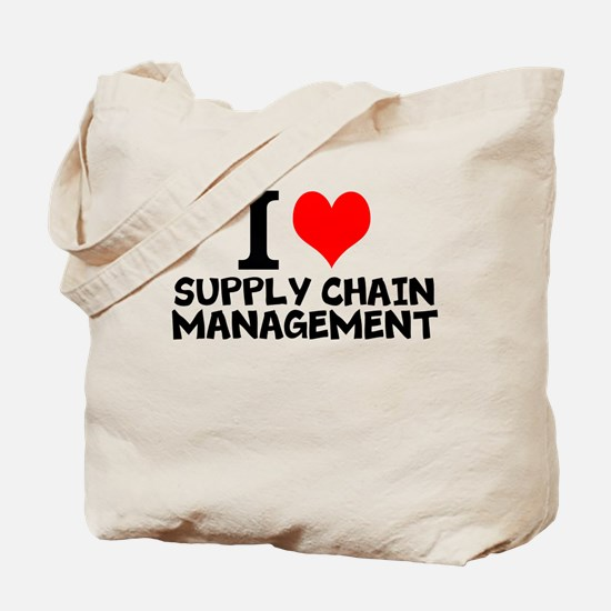 I Love Supply Chain Management Tote Bag