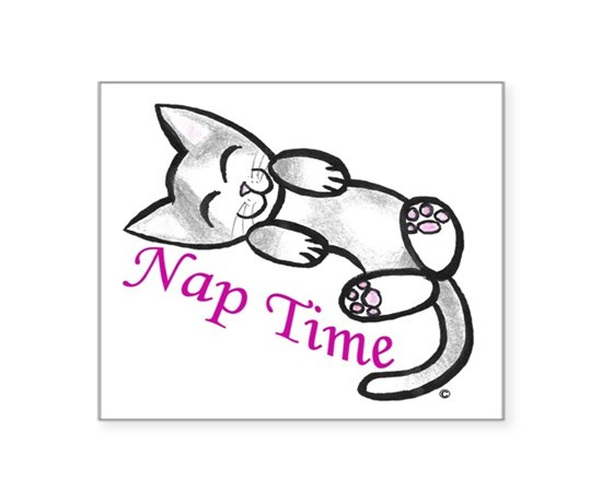 Kitty cat nap time sticker