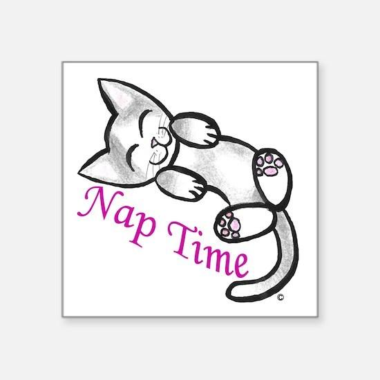 Kitty cat nap time sticker