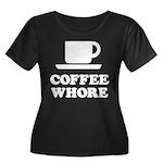 Coffee Whore Women's Plus Size Scoop Neck Dark T-S