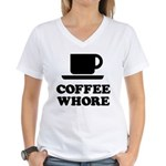 Coffee Whore Women's V-Neck T-Shirt