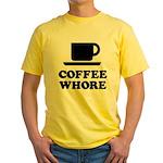 Coffee Whore Yellow T-Shirt
