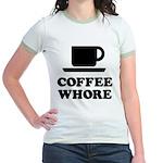 Coffee Whore Jr. Ringer T-Shirt