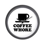 Coffee Whore Wall Clock