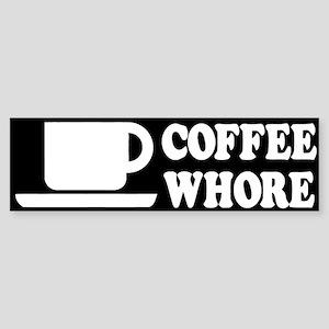 Coffee Whore Bumper Sticker