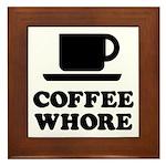 Coffee Whore Framed Tile