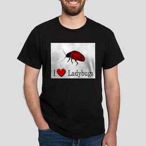 I Love Ladybugs Dark T-Shirt