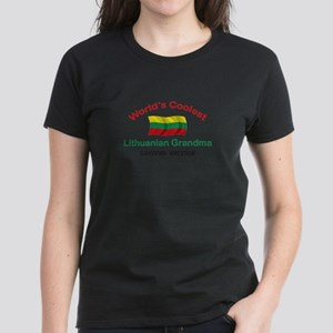 Coolest Lithuanian Grandma Women's Dark T-Shirt