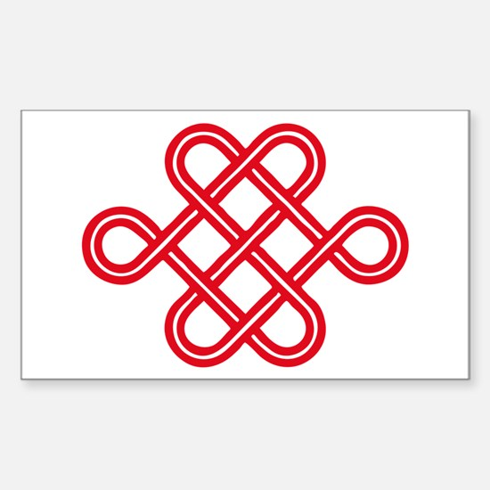 endless love knot Rectangle Decal