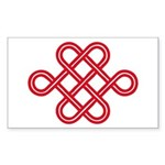 endless love knot Rectangle Sticker