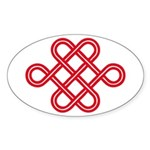 endless love knot Oval Sticker