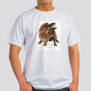 Frilled Lizard (Front) Ash Grey T-Shirt