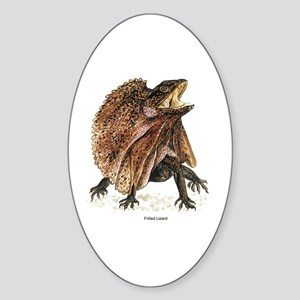 Frilled Lizard Oval Sticker