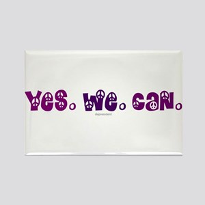 Yes We Can Peace Rectangle Magnet