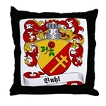 Buhl Family Crest Throw Pillow