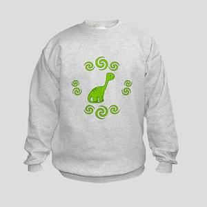 Fun Dinosaur in Swirrls Sweatshirt