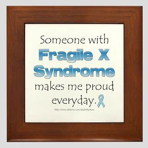 Fragile X Pride Framed Tile