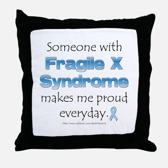 Fragile X Pride Throw Pillow