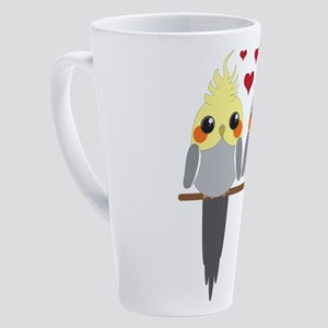 Cockatiels in Love 17 oz Latte Mug