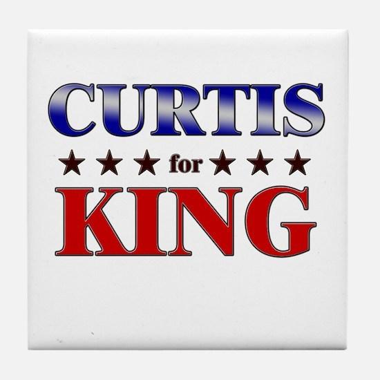CURTIS for king Tile Coaster