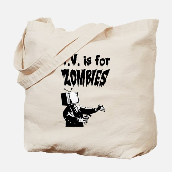 TV is for ZOMBIES Tote Bag
