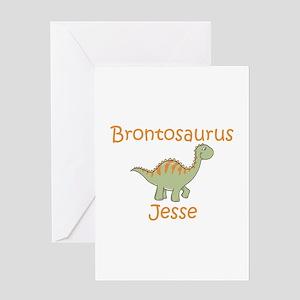 Brontosaurus Jesse Greeting Card