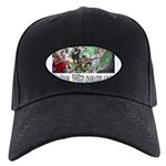 3,000 Days on Fish Wrangler Black Cap with Patch
