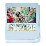3,000 Days on Fish Wrangler baby blanket