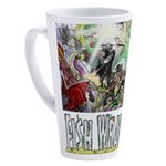 3,000 Days on Fish Wrangler 17 oz Latte Mug
